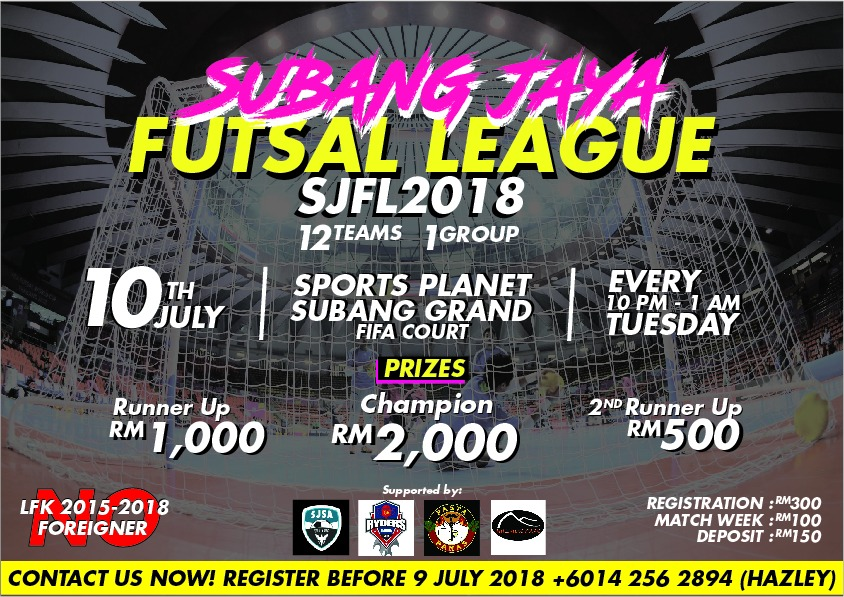 Subang Jaya Futsal League 2018 @ Sports Planet Subang Grand