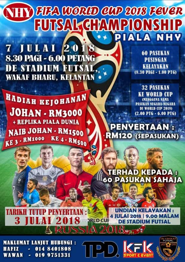 NHY Cup Challenge 2018 @ De Stadium Futsal, Wakaf Bahru Kelantan