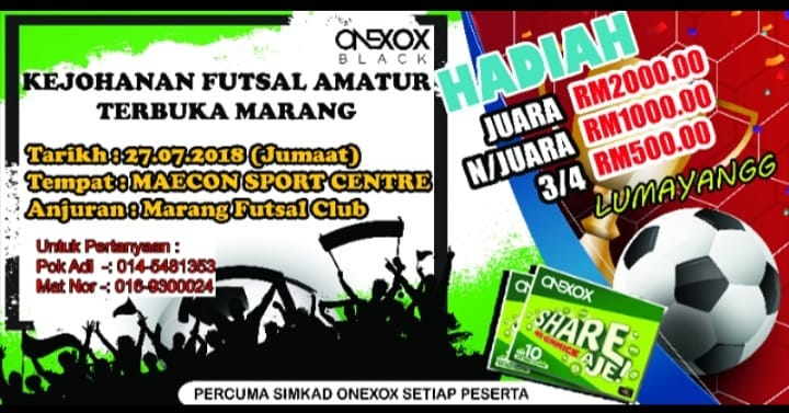 Kejohanan Futsal Amatur Terbuka Marang @ Maecon Sport Centre
