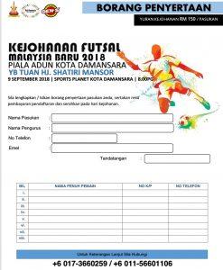 Kejohanan Futsal Malaysia Baru 2018 @ Sports Planet Kota Damansara