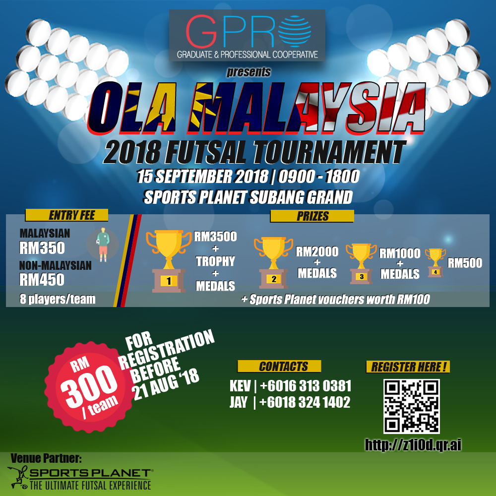 Ola Malaysia 2018 Futsal Tournament @ Sports Planet Subang Grand