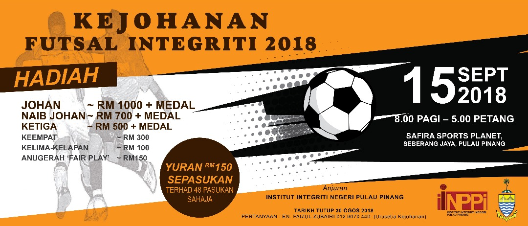 Kejohanan Futsal Integriti 2018 @ Safira Sports Planet