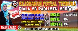 Kejohanan Futsal Terbuka Piala YB Parlimen Merbok @ Aman Jaya Sports Arena
