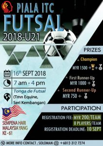 Piala ITC Futsal 2019 - U21 @ Tonga De Futsal Seri Kembangan