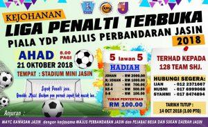 Kejohanan Liga Penalti Terbuka Piala YDP Majlis Perbandaran Nilai @ Stadium Mini Jasin