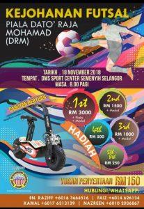 Kejohanan Futsal Piala Dato' Mohamad (DRM) @ DMS Sport Centre Semenyih Selangor