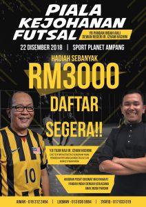 Piala Kejohanan Futsal YB Pandan Indah Ahli Dewan Negeri Ir. Izham Hashim @ Sports Planet Ampang