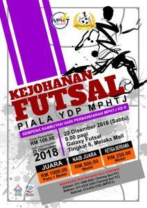 Kejohanan Futsal Piala YDP MPHTJ Ke-9 @ Galaxy Futsal Tingkat 6, Melaka Mall