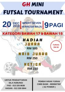 GH Mini Futsal Tournament @ Sport Seven Wangsa Maju