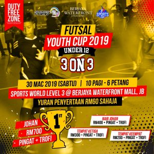 Futsal Youth Cup 2019 Under 12 3 ON 3 @ Sports World Level 3