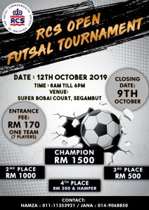 RCS OPEN FUTSAL TOURNAMENT @ Super Bobai Court, Segambut