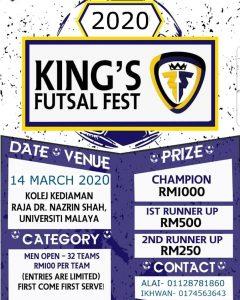 King's Futsal Fest @ Kolej Kediaman Raja Dr. Nazrin Shah, University Malaya